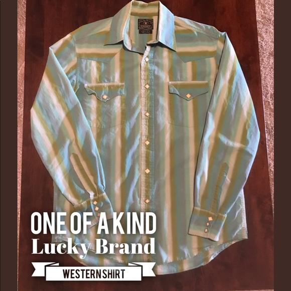 Lucky Brand Other - Lucky Brand western snap shirt